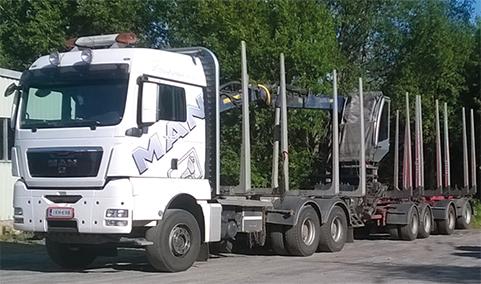 Kuljetusliike Pihlajakangas Ay:n MAN TGX puutavara-auto