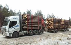 Kuljetus J & O-P Jokinen Ky Oulaisista otti loppuvuodesta 2017 ajoon uuden Iveco Stralis 560 hv trippelitelisen 8x4 puutavara-auton