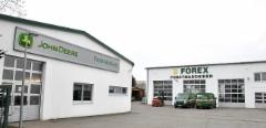 Forex GmbH on toiminut Saksassa John Deere metsäkoneiden jälleenmyyjänä jo 25 vuoden ajan. Päätoimipaikka sijaitsee Malchowissa.