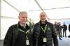 John Deere esitteli uutuksia maaliskuussa 2018 Saksassa Klinkissä - kuvassa Pertti Rauva ja Tommi Ekman