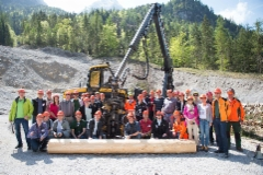 Ammattilehti Itävallan alpeilla Interforst 2018 -pressitapahtumassa