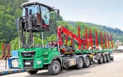 Doll-Fahrzeugbaun uutta ajatusta puutavara-autoon - ensiesittelyssä Interforst 2018 messuilla