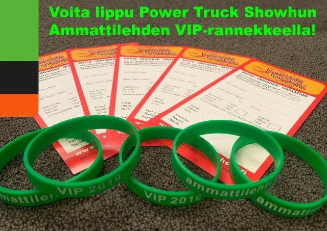 Osallistu Facebook-kilpailuun ja voita lippu Power truck Showhun Ammattilehden VIP-rannekkeella!