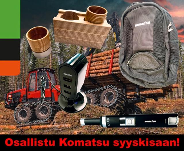 Osallistu Komatsu Forest syyskisaan Ammattilehden Facebookissa!