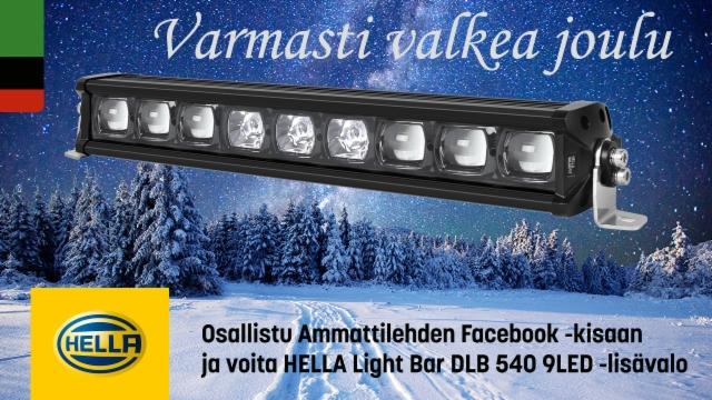 Nyt on luvassa varmasti valkea joulu - voita HELLA LED lisävalo Ammattilehden Facebook kilpailussa!