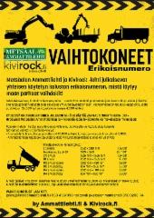 Ammattilehden ja Kivirockin vaihtokonelehti valmistumassa - vielä ehdit mukaan ilmoituksella!