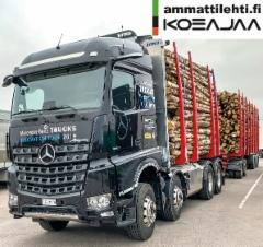 AMMATTILEHTI KOEAJAA: Mercedes-Benz Arocs 3263 K/8x4 /4 puutavarayhdistelmä