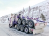 SK Trans Oy Kruunupyystä kuljettaa pylväitä ja pitkää puutavara Weckmanin rakentamilla yhdistelmällä Suomessa, Norjassa, Ruotsissa ja Tanskassa