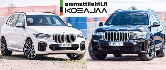 AMMATTILEHTI KOEAJAA: Parivertailussa BMW X5 xDrive30d ja BMW X7 xDrive30d - Maasturiluokan valioyksilöt