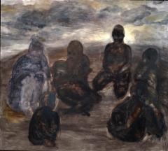 Kantanäky, öljy mdf-levylle, 208x203 cm