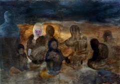 Marginaaliolemista, öljy mdf-levylle, 180x260 cm