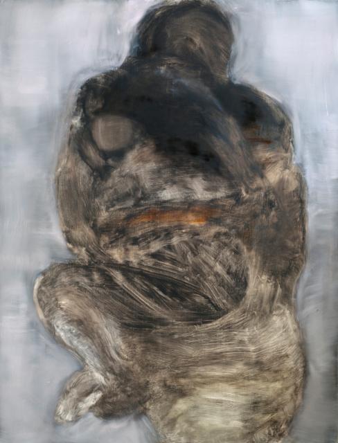 Sarjasta Fragmentteja eheydestä, öljy mdf-levylle, 134x103 cm