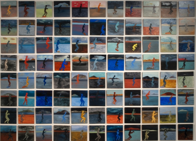 Vaeltajat, öljy mdf-levylle, 180x240 cm