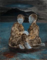 Sisaret, öljy mdf-levylle, 150x120 cm