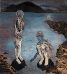 sukupolvi Ö, öljy mdf-levylle, 175x160 cm