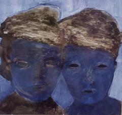 sukupolvi Ö, öljy mdf-levylle, 40x50 cm