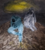Mycelium, öljy mdf-levylle, 175x160 cm