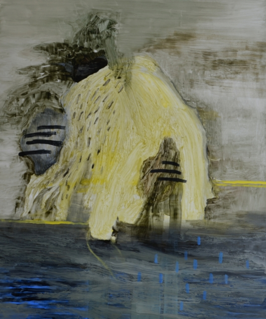 Moving entity  öljy mdf-levylle 150x120 cm