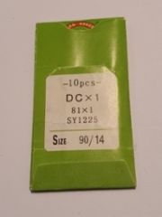 Ompelukoneen neula Organ Needles  10 kpl/paketti (DCx1 81x1 SY1225 size 90/14 1 made in japan) (pyöreä kanta teollisuus koneisiin) hinta hinta 3,50 euroa paketti
