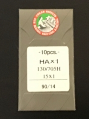 Ompelukoneen neula Organ Needles 10 kpl/paketti (HAx1 130/705H 15x 1 size 90/14 made in japan) (suora reuna kotikoneisiin) hinta 3,50 euroa paketti