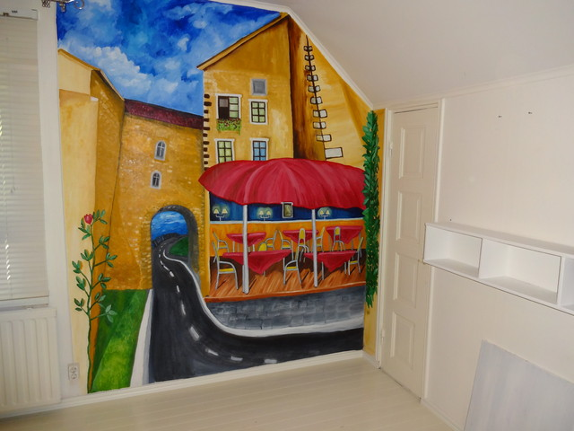 ravintola,seinämaalaus