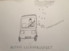 Auton lisävarusteet: sadetunnistin