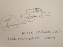 Auton lisävarusteet: lukkiutumattomat jarrut