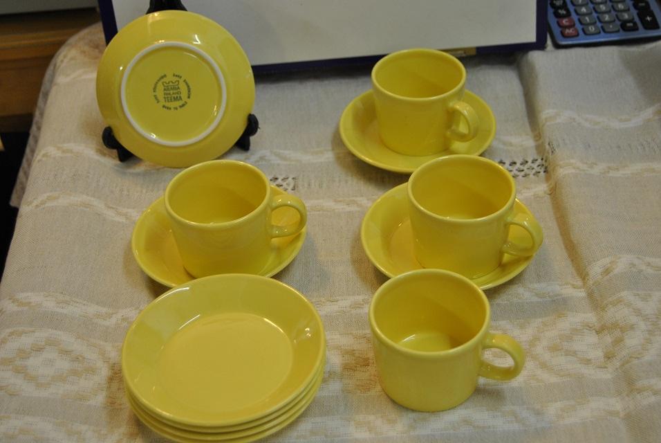 Iittala teema keltainen lautanen