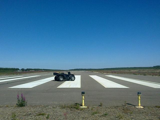 Sodankylän lentoaseman kiitotie. KUVA: Juha Alander