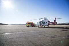 Yhteistyössä LSHP:n ensihoidon ambulanssin kanssa Ivalossa