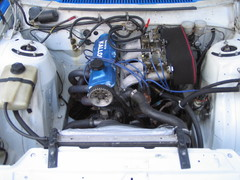 ex. ralliauto moottori