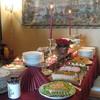 Noutopöytä rippijuhlissa
