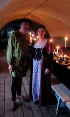 Keskiaikainen trubaduuri ja linnan emäntäpiika