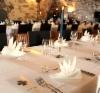 Kurssijuhlan päivälliskattaus