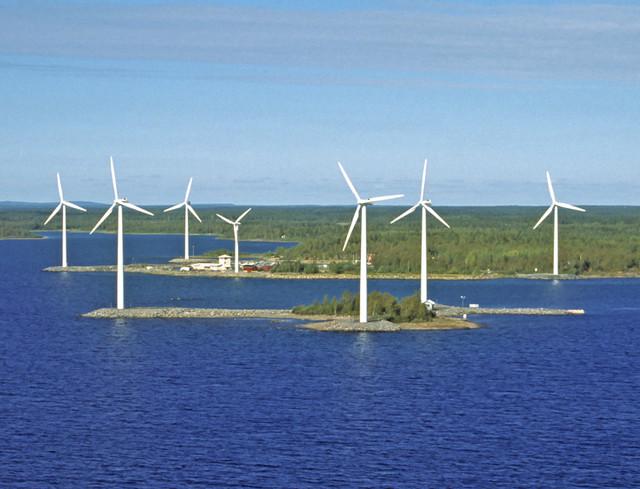 Tuulimyllyjä Vatungissa