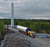 Tuulimyllyn rakennustyömaa, Olhavassa