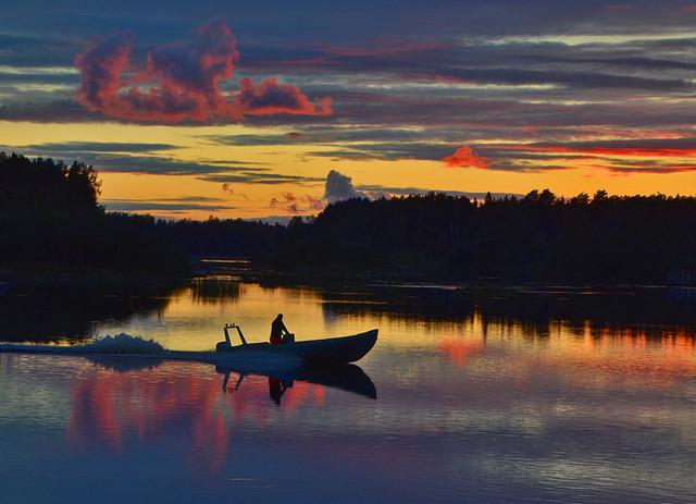 Kalastaja Iijoella