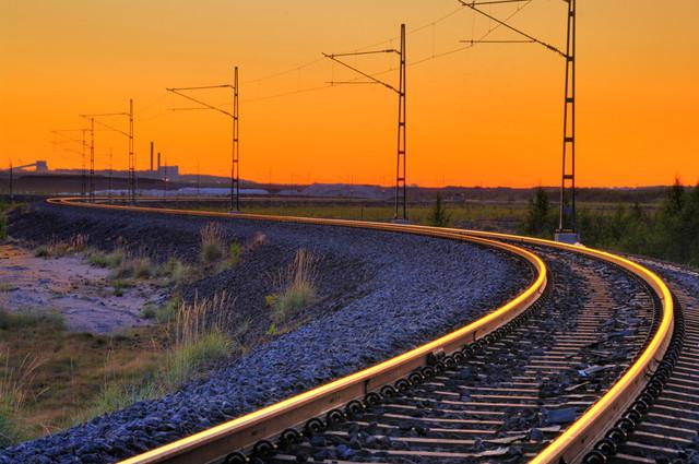 Railroad on Sandskär, Luleå