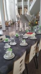 50-vuotis syntymäpäivien kahvipöytä
