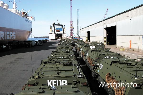 paajoukon kaluston laivaus