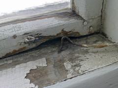 Ulkopuitteiden alapuut olivat monilta osin vaurioituneet ja lahot. Lähes kaikkiin vaihdettiin vähintään tippanikka, moniin myös koko alapuu