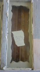 Lasitus pellavaöljykitillä pohjamaalattuun puitteeseen