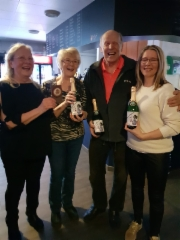 2019 palkitut: vasemmalta Tepa, Marita, Kari ja Sanna