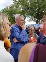 Ulkoministeri Pekka Haavisto oli myös paikalla