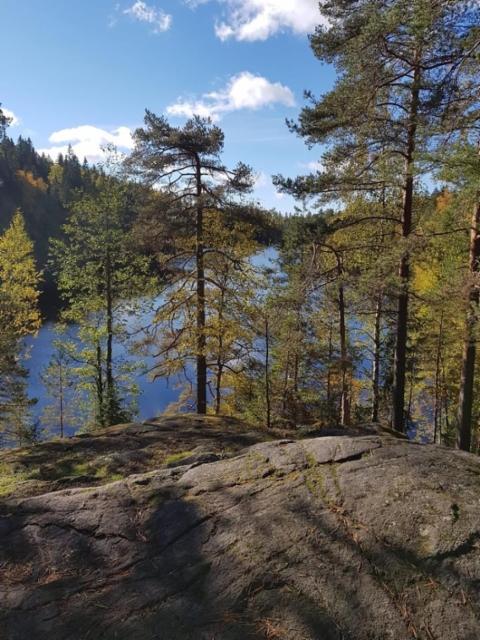 Usminjärven kauniit maisemat patikoinnissa 26.09.2021