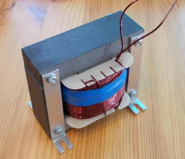 120 mH DIY inductor: finished choke coil with air gap