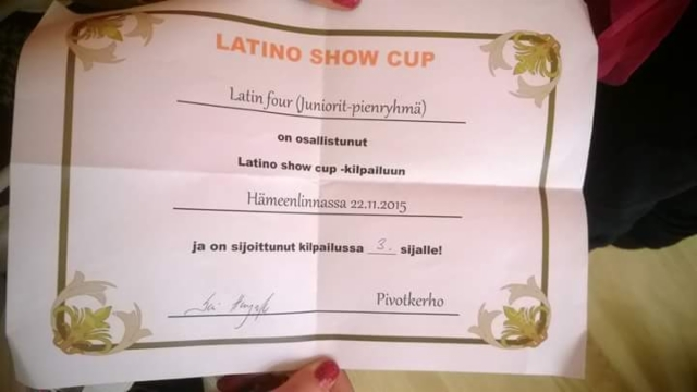 Latinishow cup 1. osakilpailu