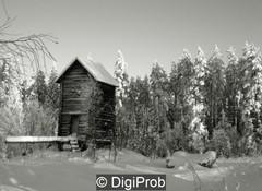 Tuulimylly talvella