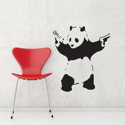 Panda  seinätarra  Sisustustarrat ja seinätarrat  Dr Decor