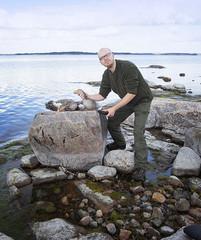 """Tapio antoi taas vierasjahdista joulupöytään jo perinteisen """"merkkarin"""". Kiitos Juhalle."""